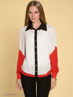 Блузка TOPSANDTOPS. Цвет: красный