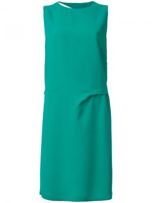 Платье с разрезом 8pm. Цвет: зелёный