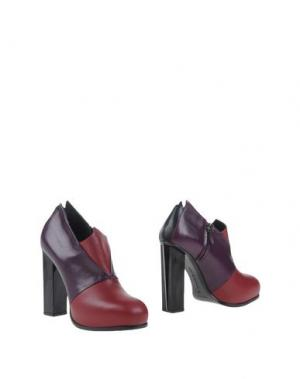 Ботинки CHARLINE DE LUCA. Цвет: красно-коричневый