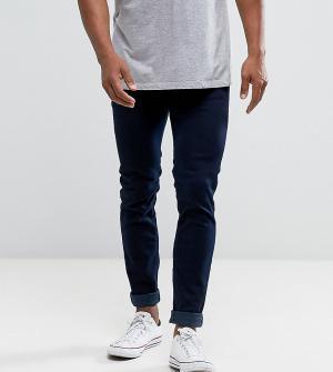 Diesel Выбеленные зауженные джинсы цвета индиго Sleenker 084KE. Цвет: темно-синий
