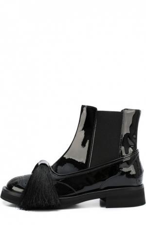 Лаковые ботинки Aleksander с бантом Aleksandersiradekian. Цвет: черный