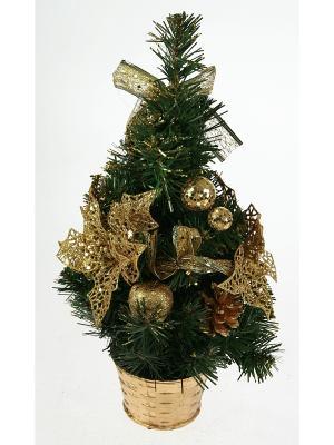 Ёлочка декоративная настольная Рождественское чудо 41 см. Русские подарки. Цвет: зеленый, золотистый