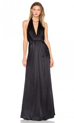 Вечернее платье на бретельках с глубоким вырезом JILL STUART. Цвет: черный