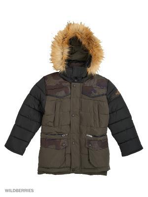 Куртка для мальчика Камуфляж Пралеска. Цвет: хаки