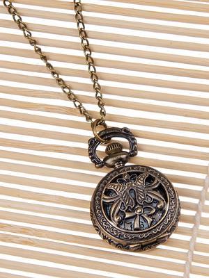 Кулон-часы Медальон с вензельками Mitya Veselkov. Цвет: бронзовый