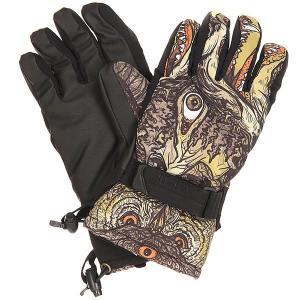 Перчатки сноубордические  Handicrafter Glove Sheets Pow. Цвет: черный,мультиколор