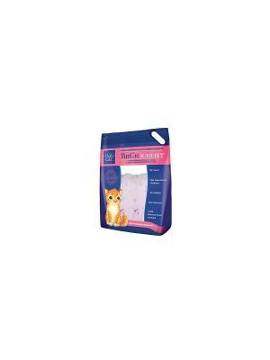 Наполнитель ВиСи Клозет, силикагель ароматизированный. 3,8 л. Клозет. Цвет: светло-коралловый