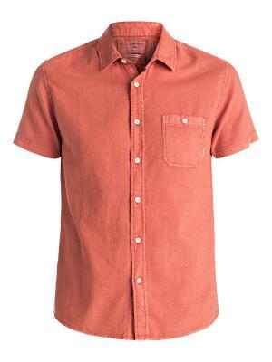 Рубашка Quiksilver. Цвет: оранжевый