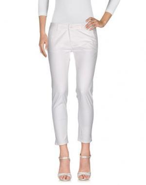 Джинсовые брюки NIOI. Цвет: белый