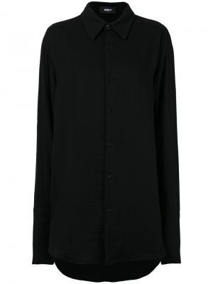 Удлиненная рубашка с необработанным подолом Yang Li. Цвет: чёрный