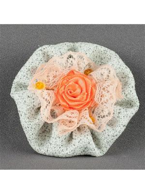 Брошь Каринэ Аккесорио - Мастер. Цвет: оранжевый