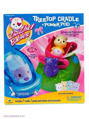 Игровой набор Колыбель Zhu Babies. Цвет: розовый