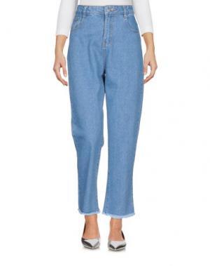 Джинсовые брюки GOLDIE LONDON. Цвет: синий