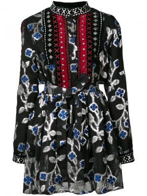 Платье Loren с заклепками Dodo Bar Or. Цвет: чёрный