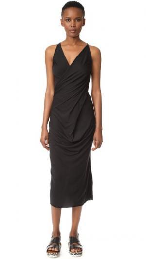 Платье без рукавов Rick Owens Lilies. Цвет: голубой
