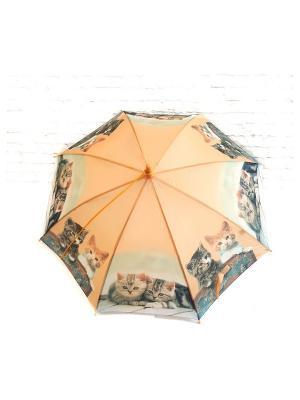 Зонт NeKi. Цвет: светло-оранжевый