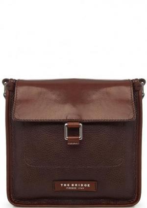 Кожаная сумка через плечо коричневого цвета The Bridge. Цвет: коричневый