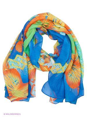 Парео текстильное Vittorio Richi. Цвет: синий, салатовый