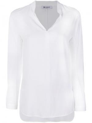 V-neck blouse Dondup. Цвет: белый