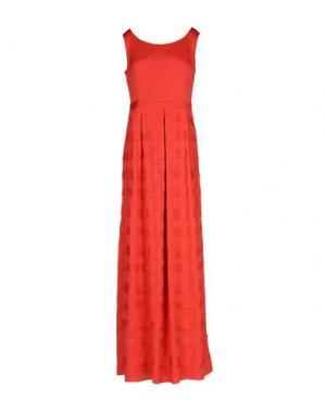 Длинное платье PF PAOLA FRANI. Цвет: коралловый