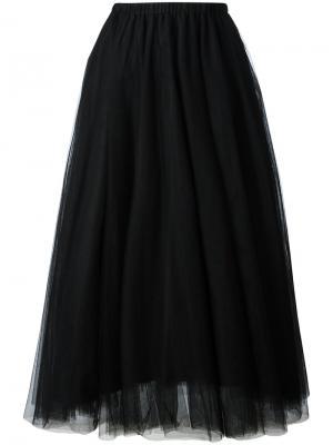 Плиссированная юбка Rochas. Цвет: чёрный