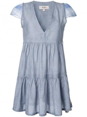 Платье с V-образным вырезом Lemlem. Цвет: серый