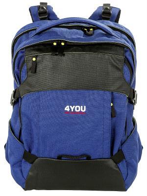 Рюкзак 4you. Цвет: синий, черный