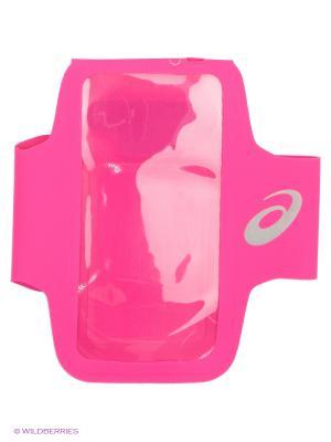Карман для медиаустройств MP3 ARM TUBE ASICS. Цвет: розовый, черный