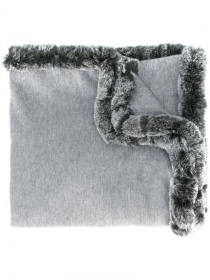 Длинная шаль N.Peal. Цвет: серый