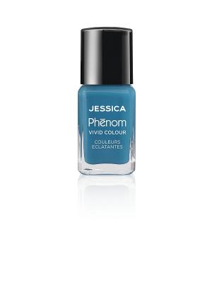 Phenom Цветное покрытие Vivid Colour Fountain Bleu № 08, 15 мл JESSICA. Цвет: голубой