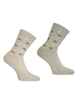 Носки 2 пары Master Socks. Цвет: бежевый, хаки