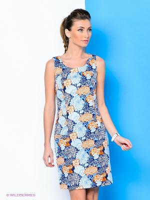 Платье River Woods. Цвет: голубой, оранжевый, синий
