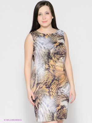 Платье МадаМ Т. Цвет: хаки, рыжий, фиолетовый