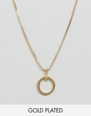 Pilgrim Позолоченное ожерелье. Цвет: золотой