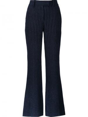 Полосатые бархатные брюки Peter Pilotto. Цвет: чёрный