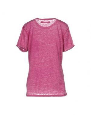 Футболка CLARK JEANS. Цвет: розовато-лиловый
