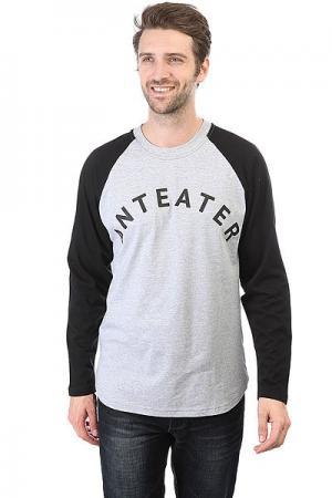 Лонгслив  Long039 Black/Grey Heather Anteater. Цвет: черный,серый