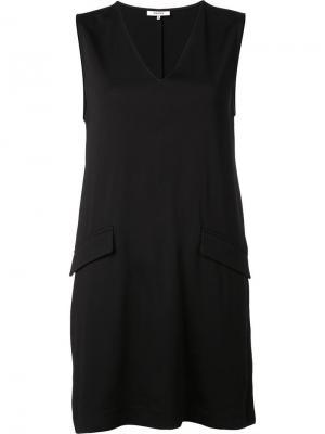Платье с накладными карманами Ganni. Цвет: чёрный