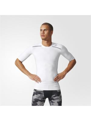 Футболка спортивная муж. TF CHILL SS Adidas. Цвет: белый