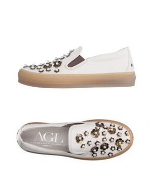 Низкие кеды и кроссовки AGL ATTILIO GIUSTI LEOMBRUNI. Цвет: белый