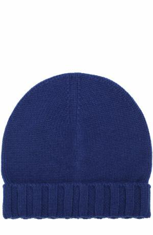 Кашемировая шапка бини Ermenegildo Zegna. Цвет: синий