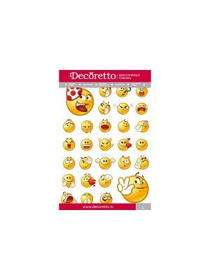 Такие разные эмоции DECORETTO. Цвет: желтый, красный, оранжевый