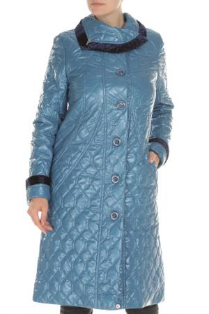 Пальто Дамская фантазия. Цвет: голубой