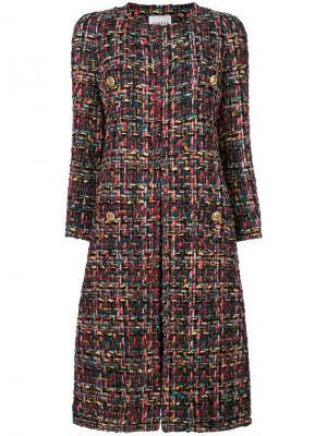 Твидовое пальто Edward Achour Paris. Цвет: многоцветный