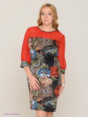 Платье MAFUERTA. Цвет: красный, зеленый, коричневый, синий