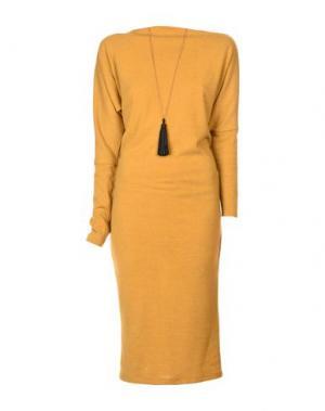 Платье длиной 3/4 SOUVENIR. Цвет: охра