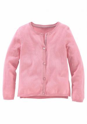 Кардиган KIDOKI. Цвет: розовый