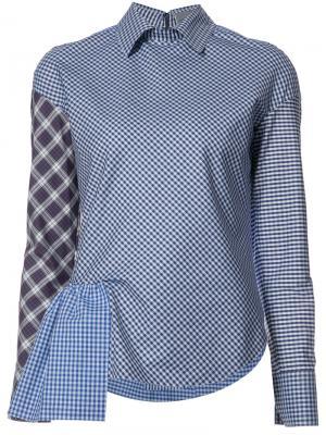 Рубашка с воланом Les Animaux. Цвет: синий