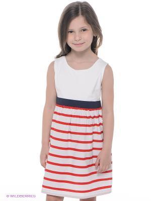 Платье CHICCO. Цвет: белый, красный