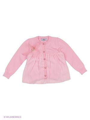 Кардиган с шифоном Born. Цвет: розовый